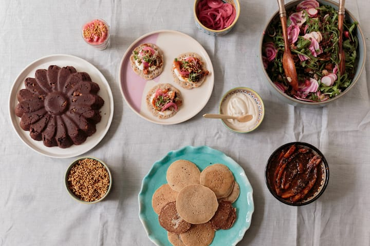 The brunch spread: savoury and sweet