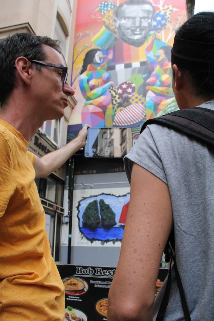 Mural by a Spanish street artist