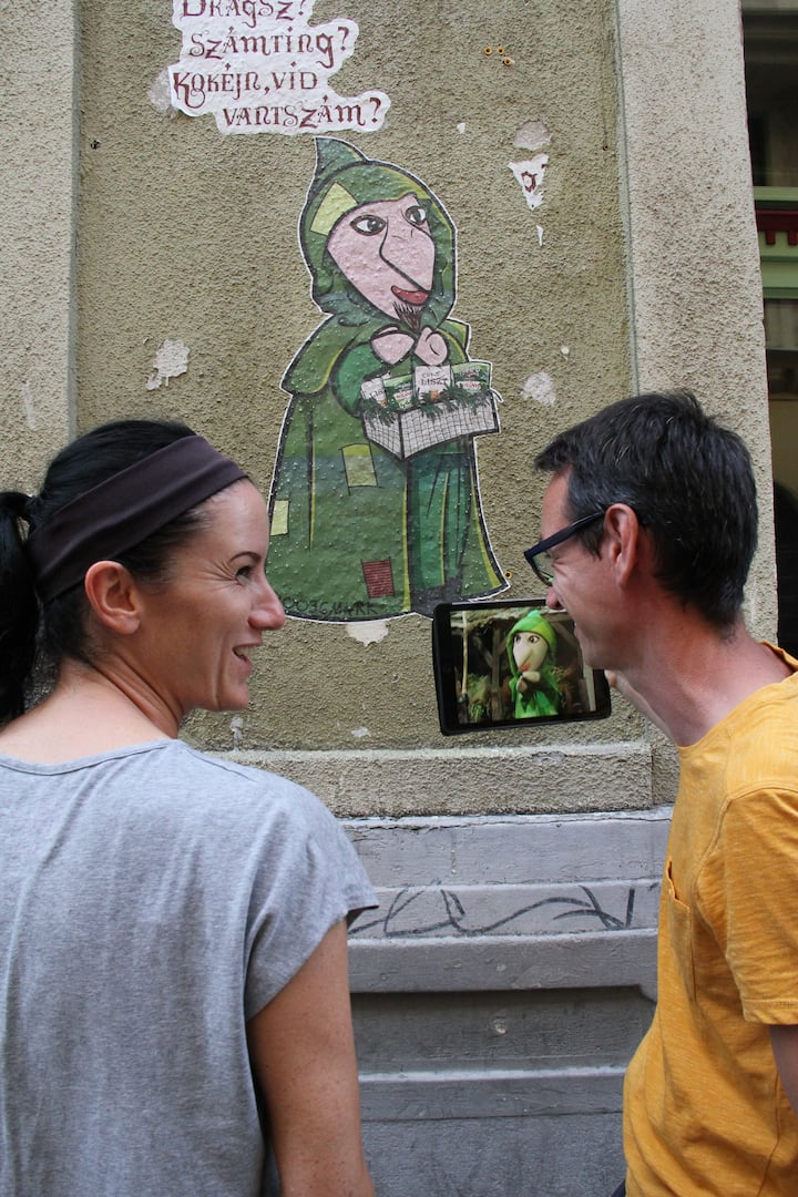 Paste-up by a Hungarian street artist