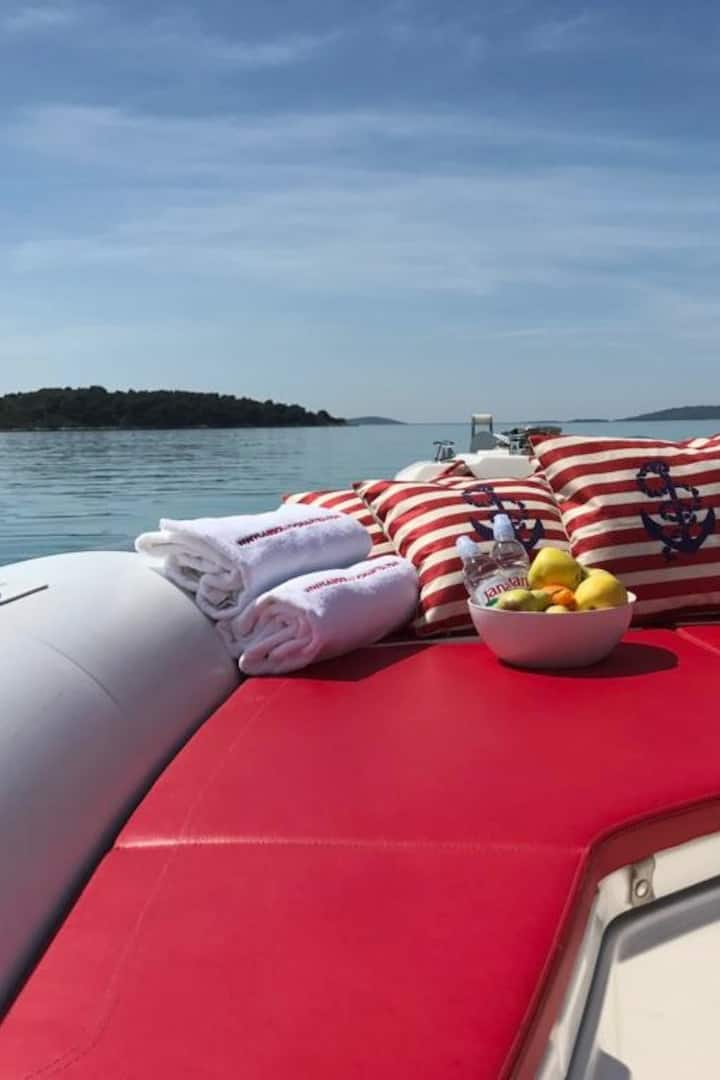 Relax on our beautiful boat
