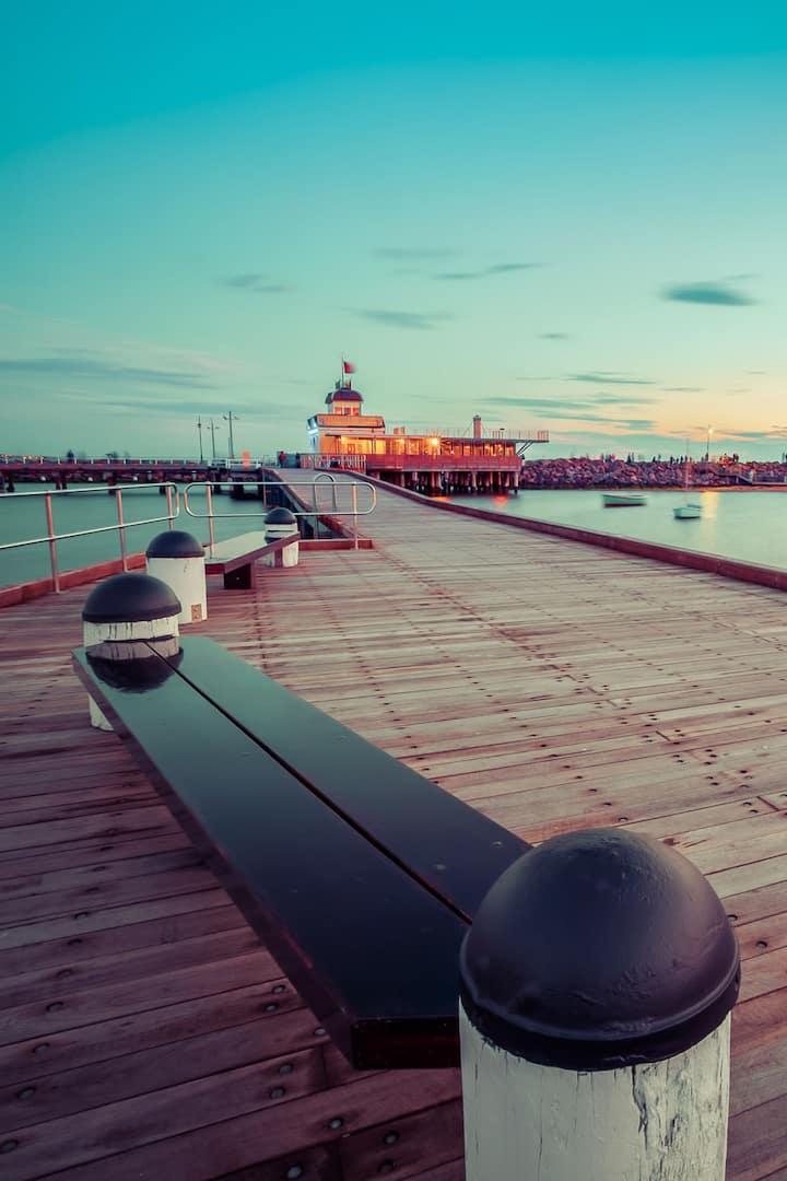 Famous St. Kilda Pier.