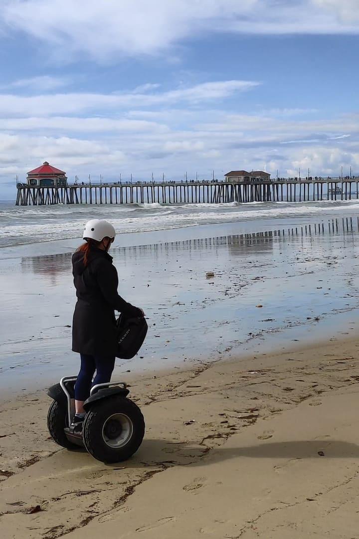 January on beach