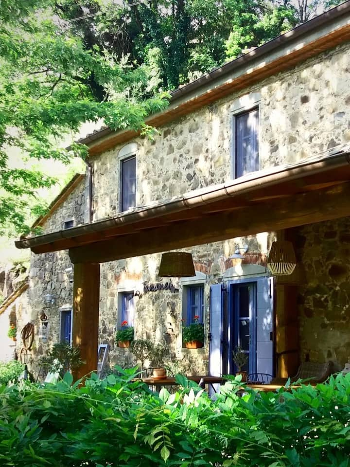 .. in our 1861 typical Tuscan farmhouse.