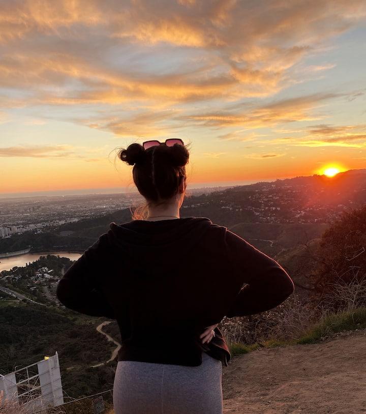 Moment the sun sets high  LA