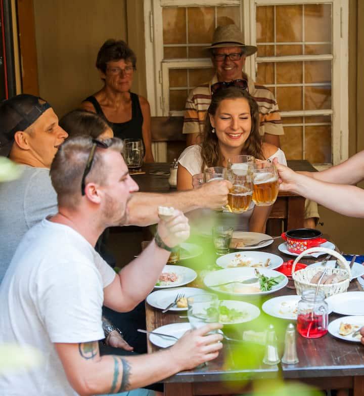 local beer & food tasting