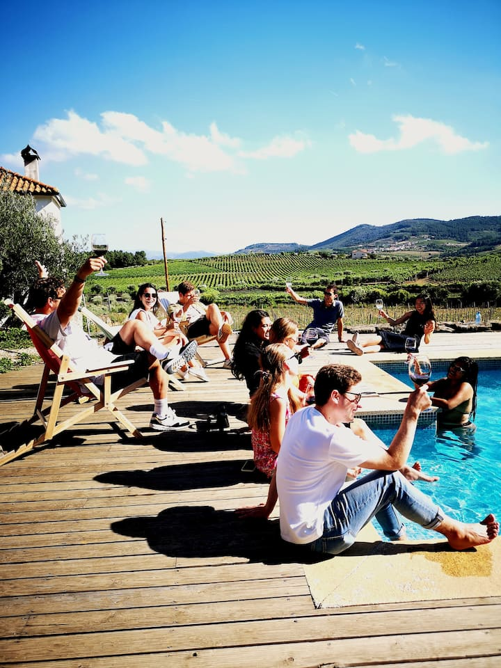 Drink wines and cool off in our pool ...