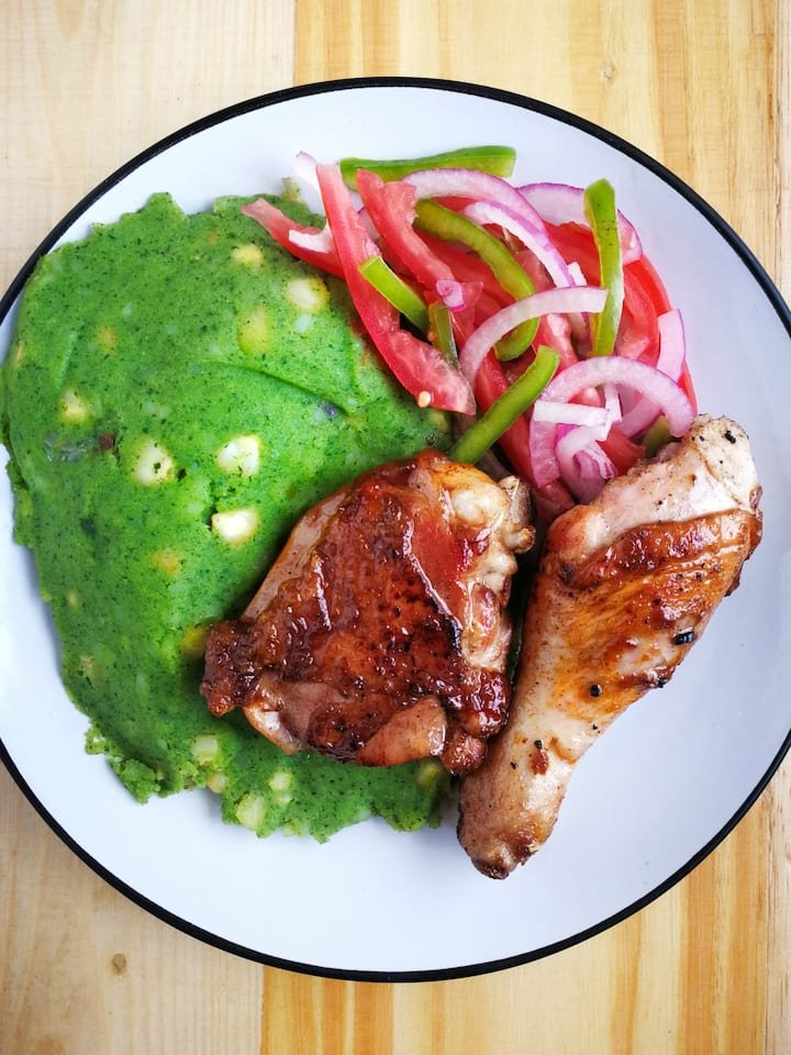 Mukimo with Chicken