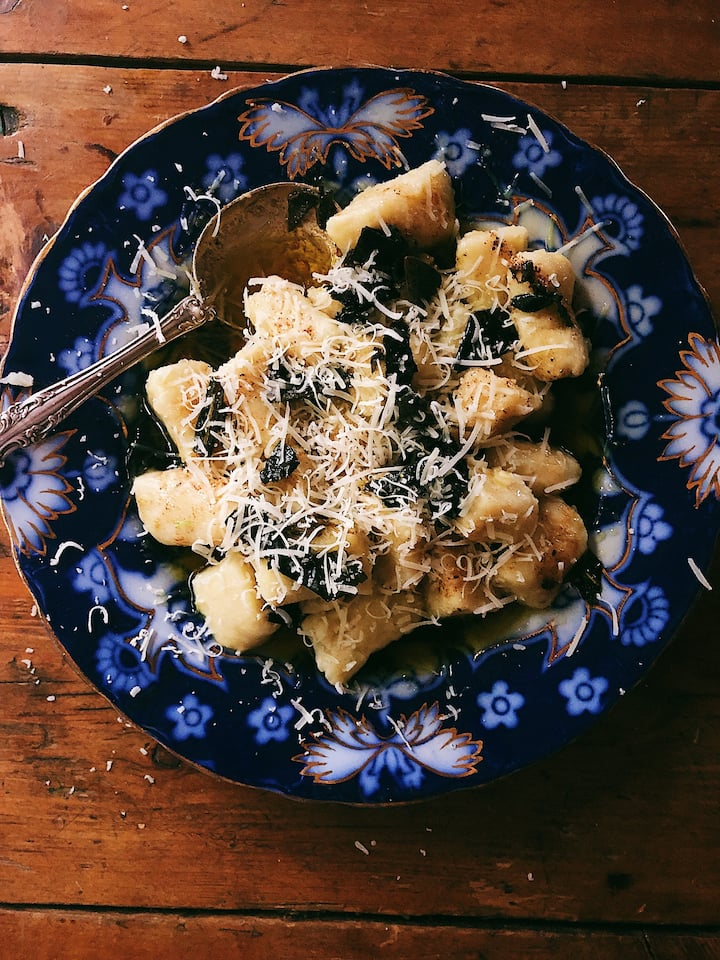 Ricotta gnocchi with brown butter sage