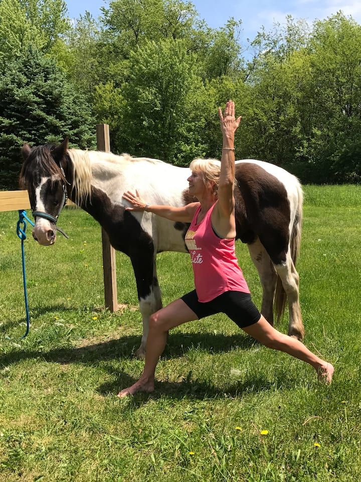 No yoga or horse experience required,