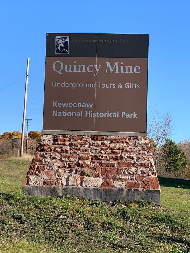 Quincy Copper Mine Stop along the way