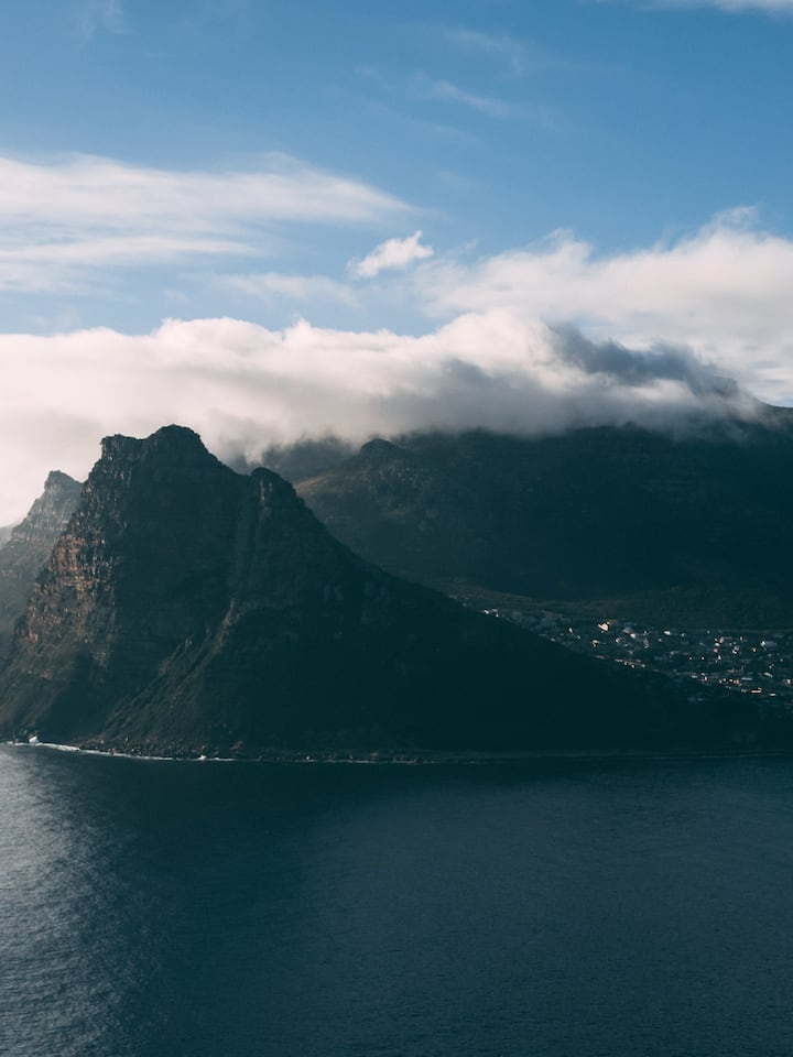 View of Hout Bay from Chapmans Peak Driv