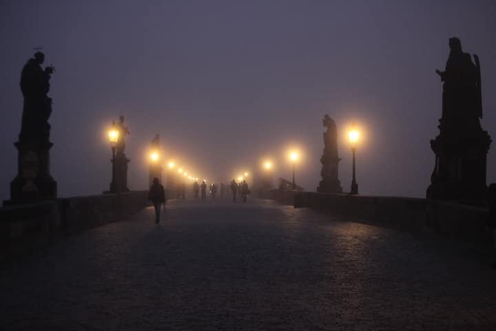 ...the saints on the Charles Bridge.