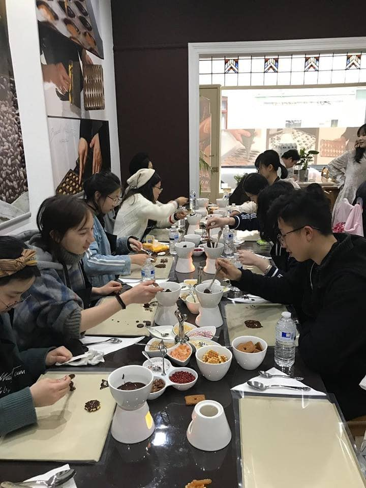 The chocolate workshop on going