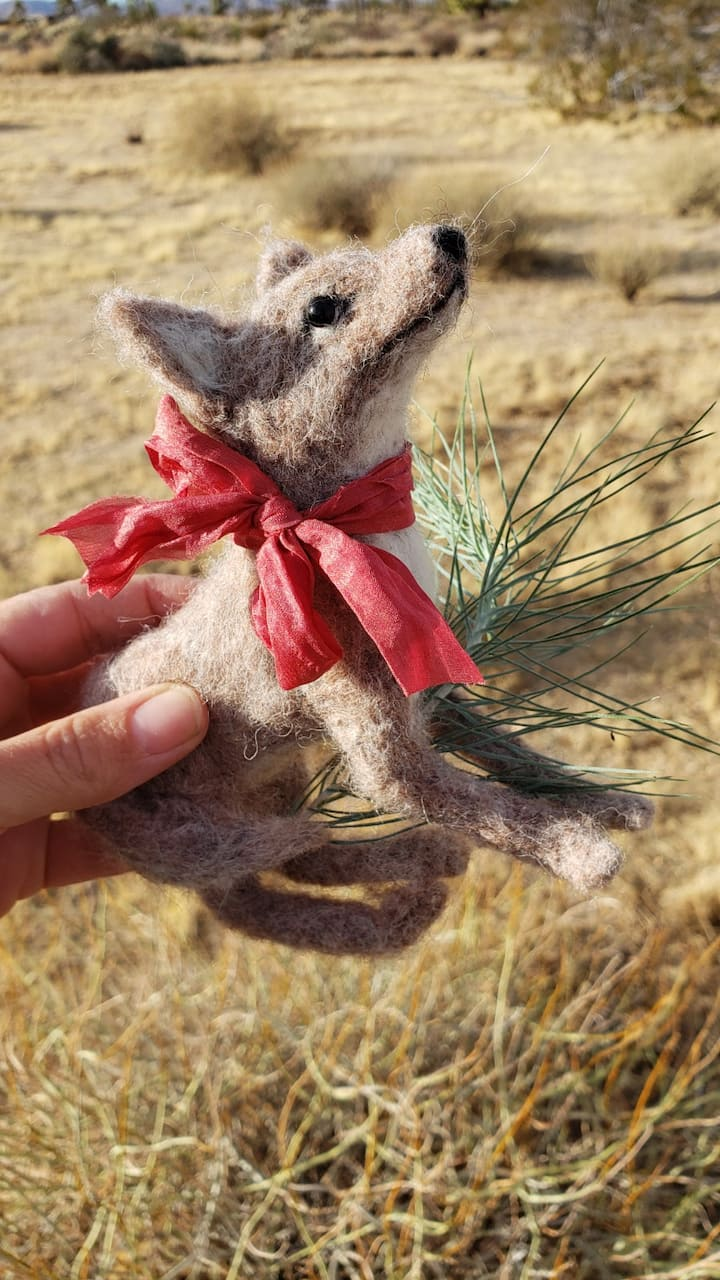 Needle Felted Coyote