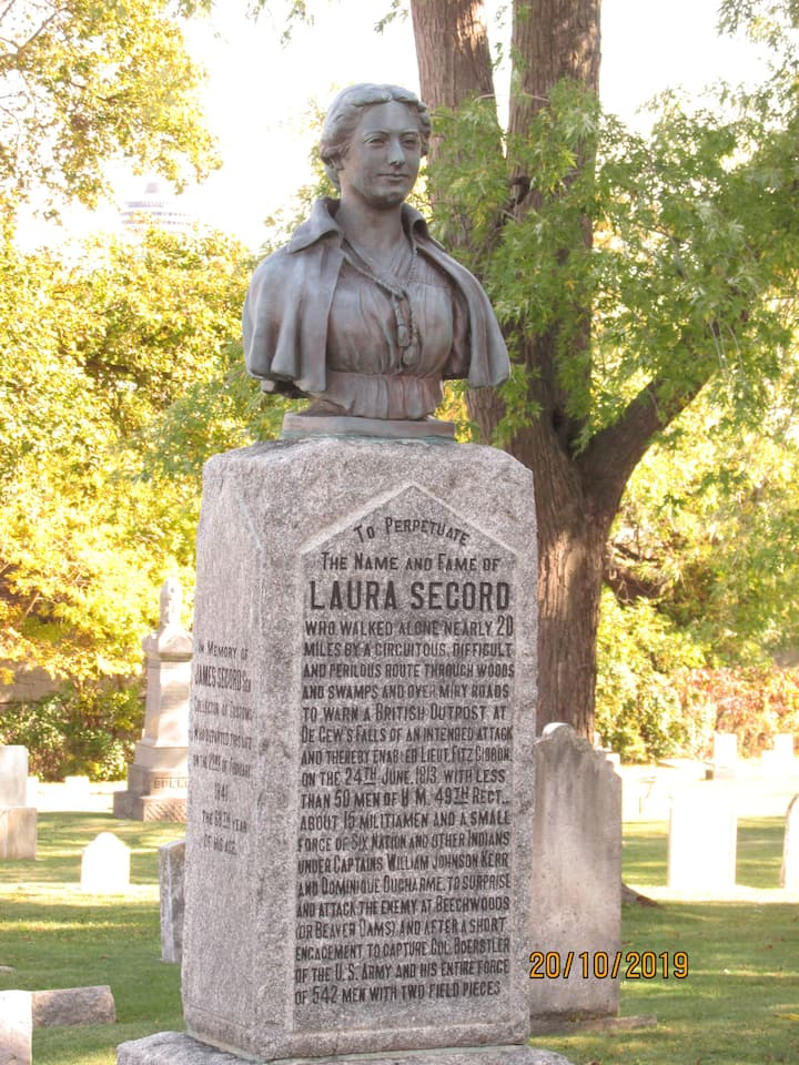 Laura Secord Grave stone
