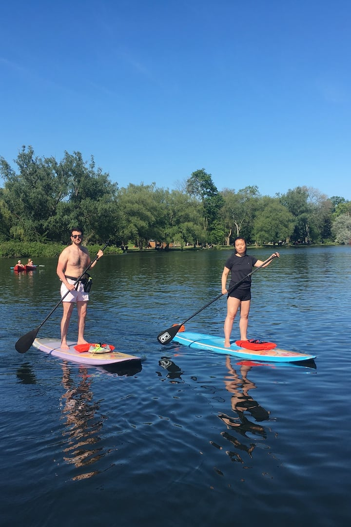 calm day for sup toronto islands