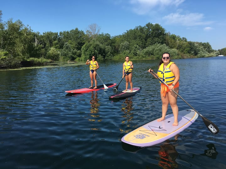 paddle board lesson toronto islands
