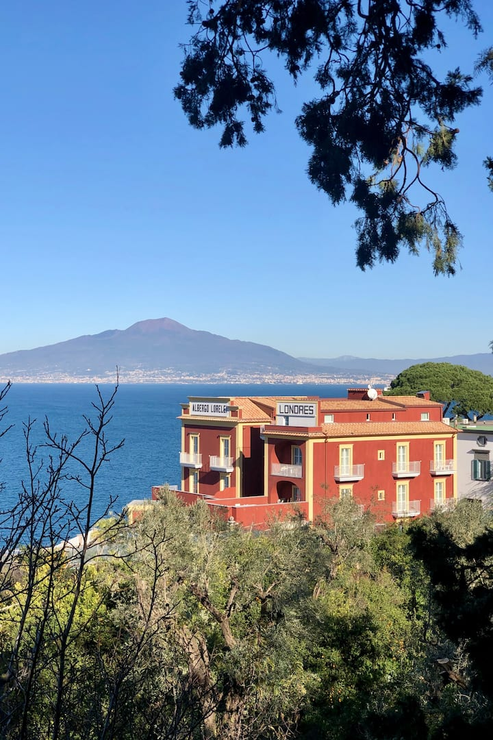 View of Sorrento with Vesuvius