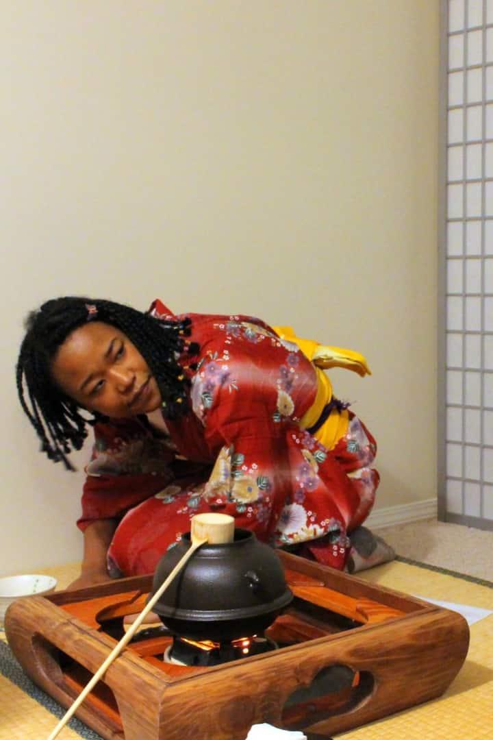 Tatami style tea session
