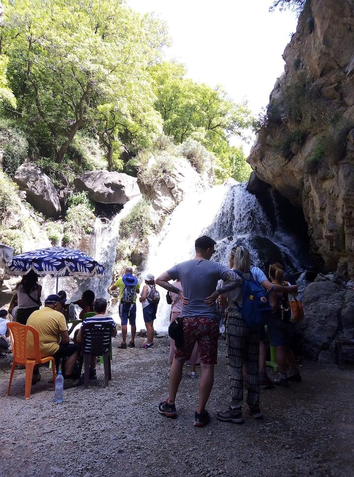Imlil Waterfalls in The Atlas Mountains