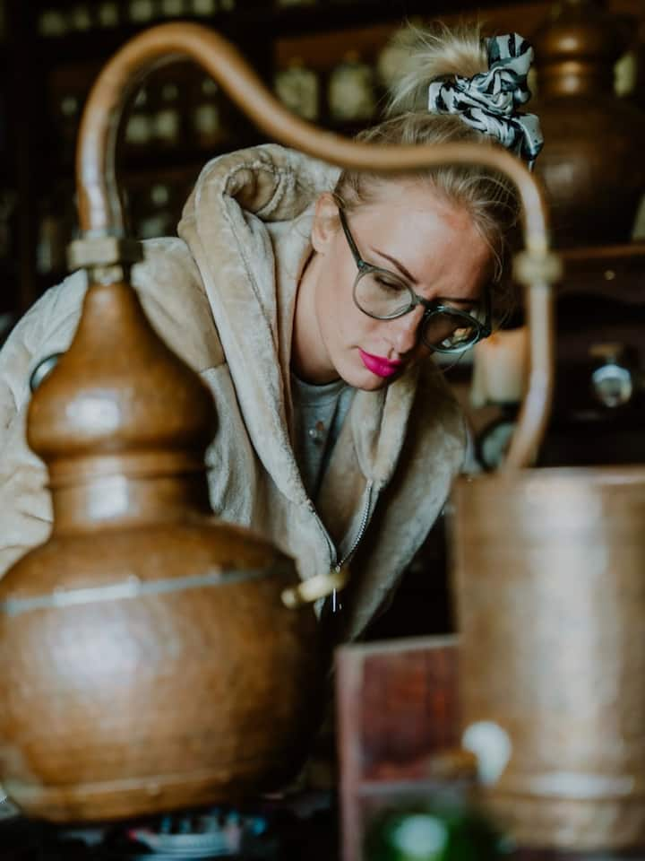 Distilling essential oils