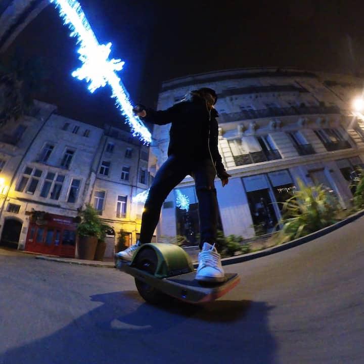 Onewheel by night