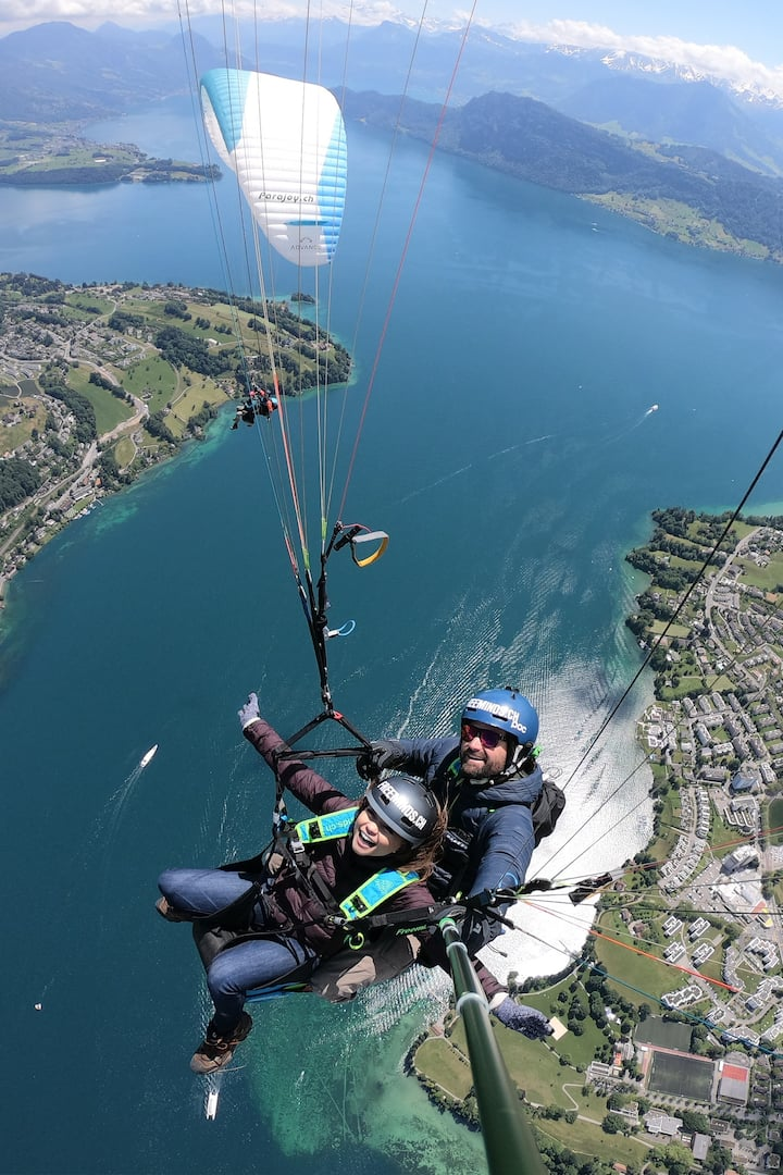 High above Lake Lucerne & Lucerne City