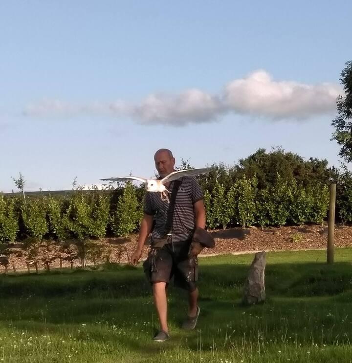Fidget taking Gary for a walk !