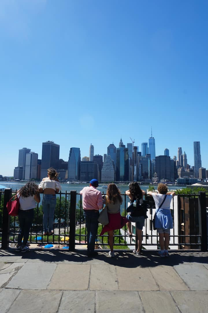 The Manhattan skyline seen from Brooklyn