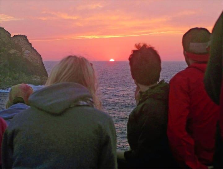 Enjoy a West Coast sunset.