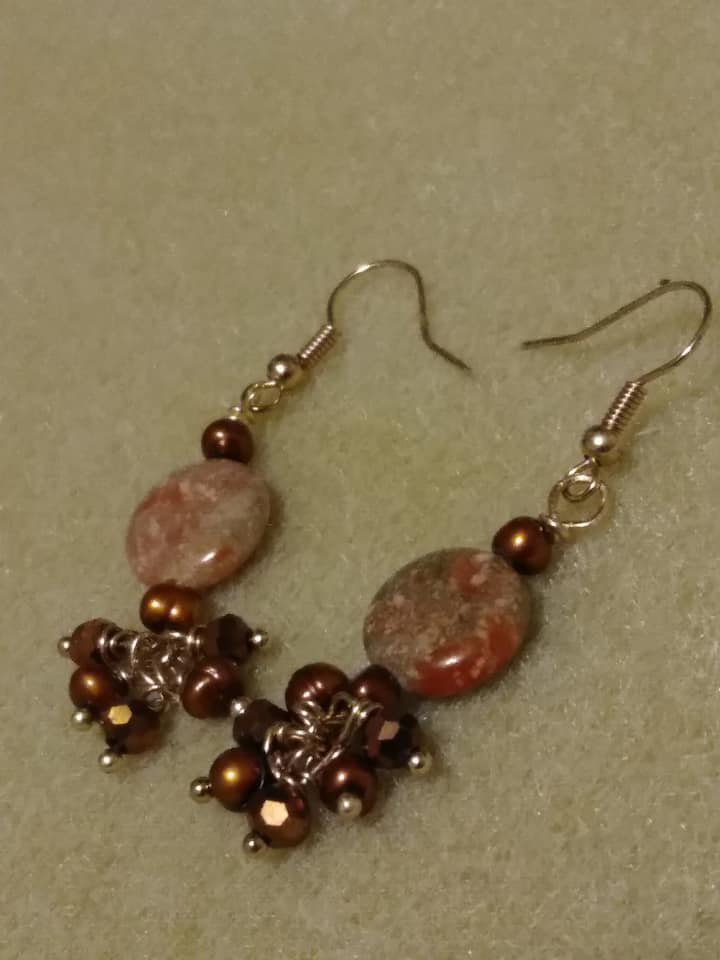 The student's first earrings!