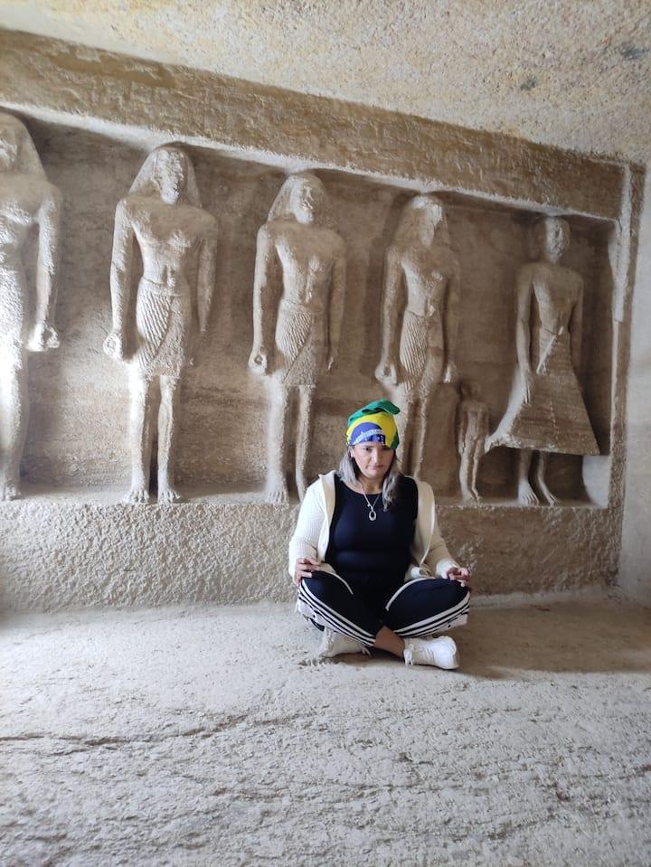 Meditation tour insid the pyramids