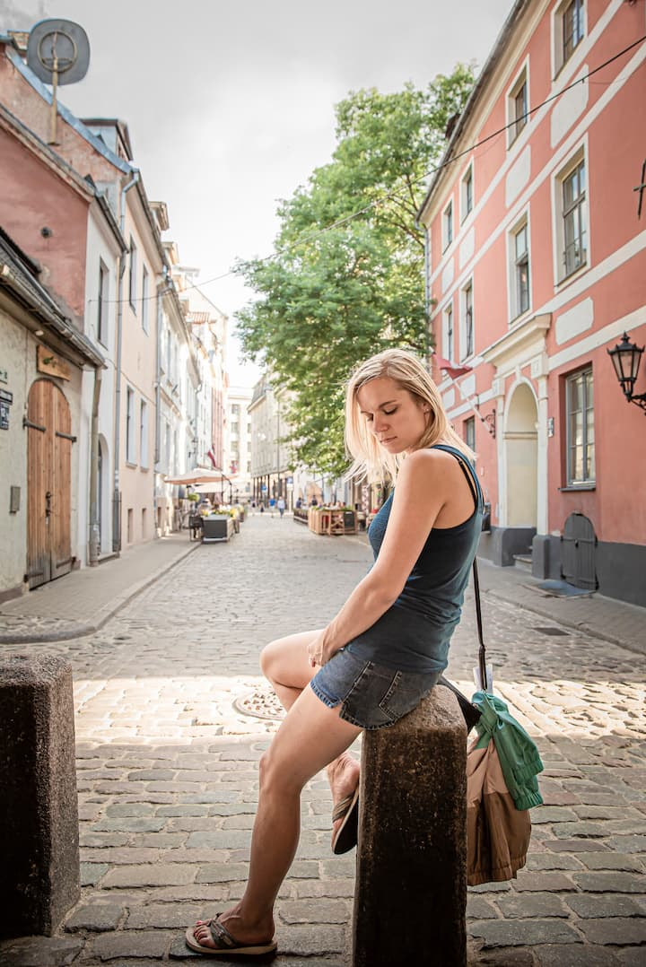 Single portrait in Old Riga