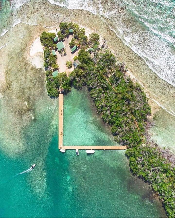 Mata La Gata Island Aerial View