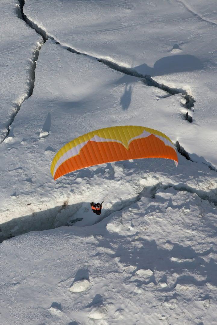au dessus des glaciers