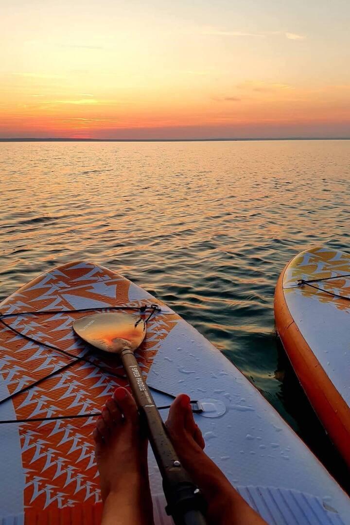 Sunset on lake Balaton