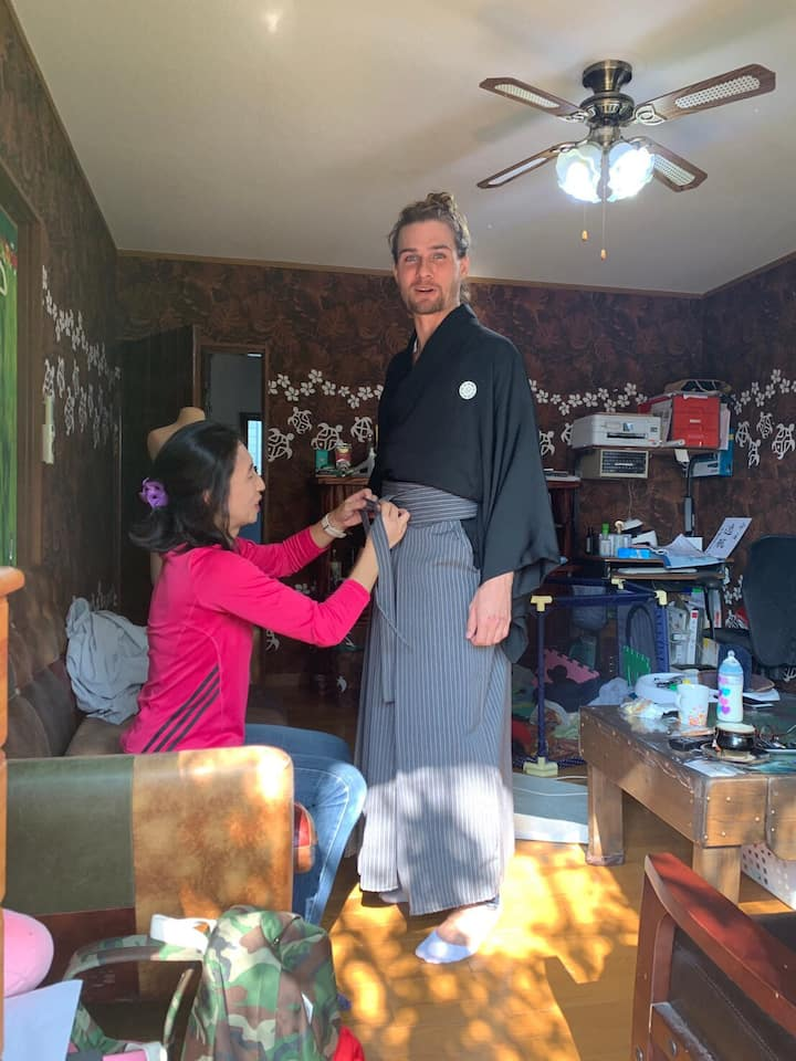 Kimono dressing experience.