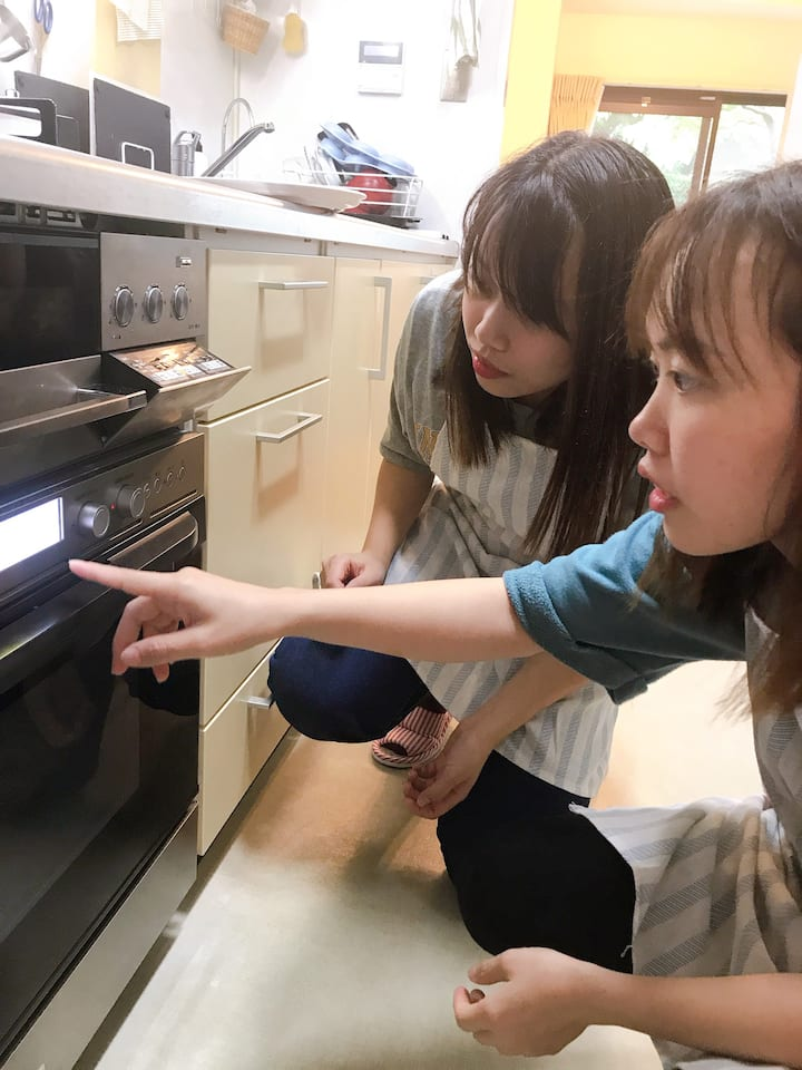 We use gas oven.