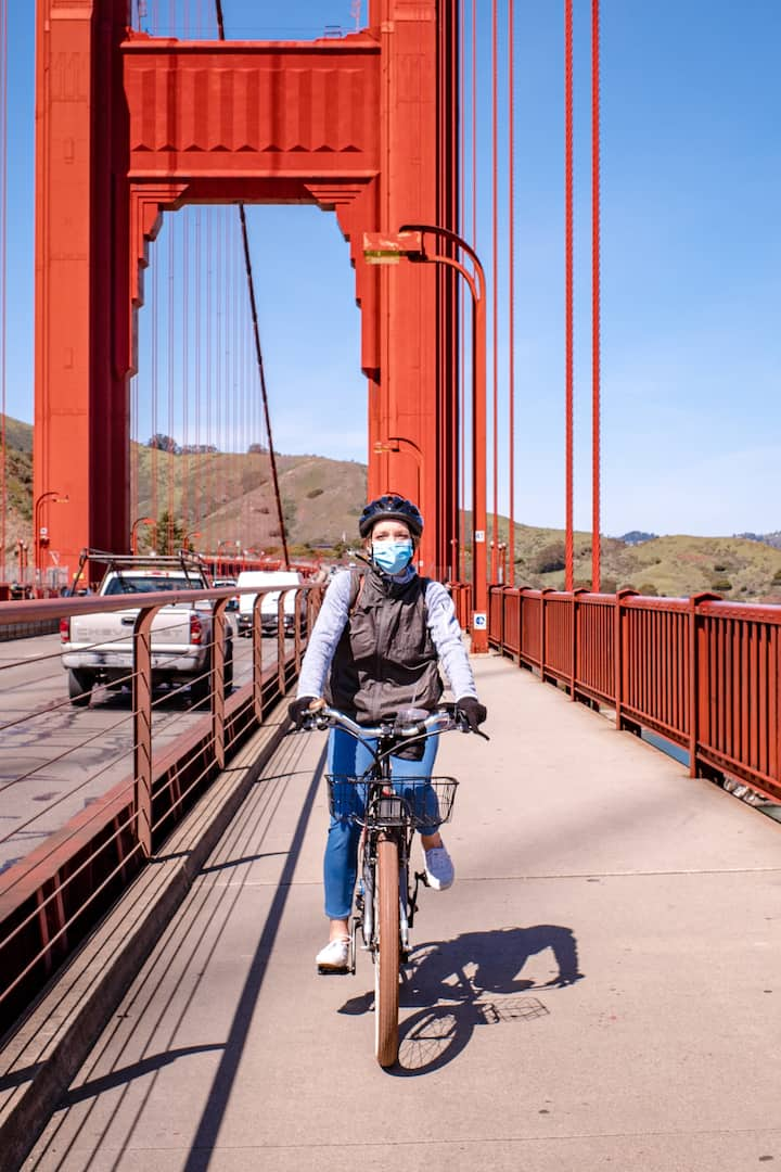 Ride the whole Golden Gate Bridge- epic!