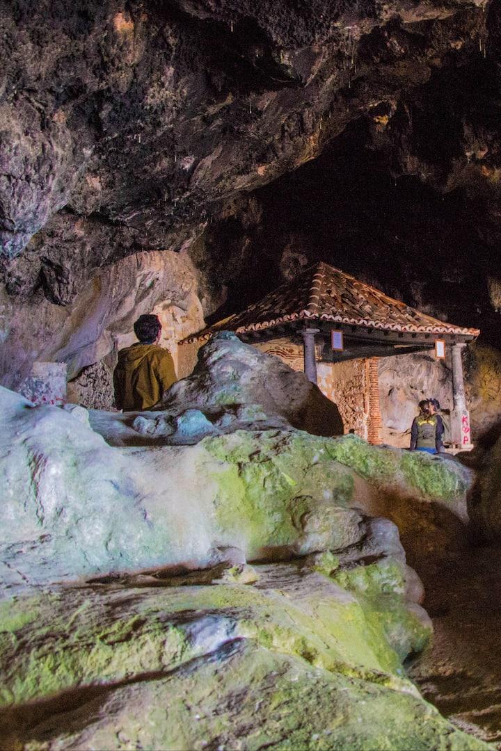 Explore a secret cave