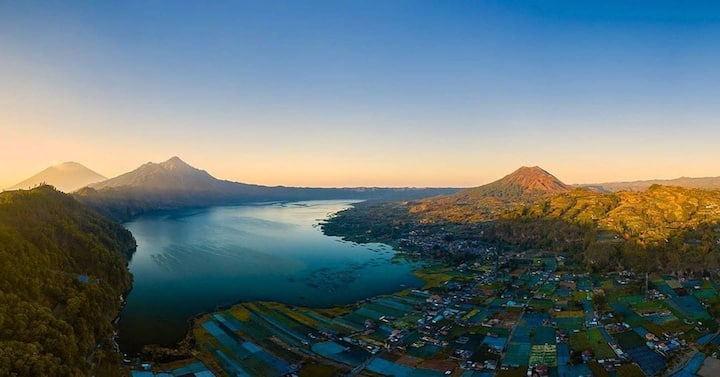 Batur caldera sunrise