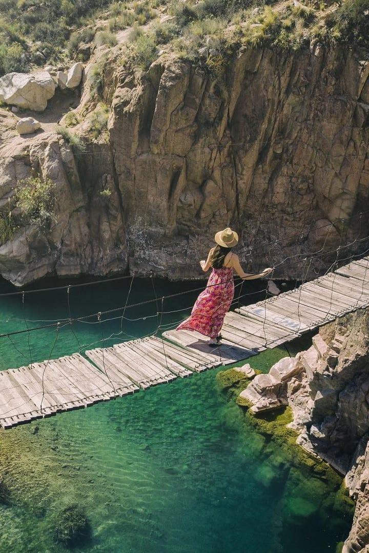 Puente colgante Cacheuta