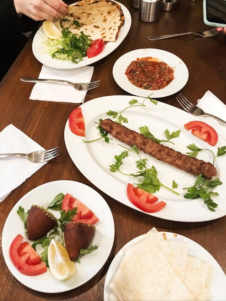 Optional, Turkish Kebab plate