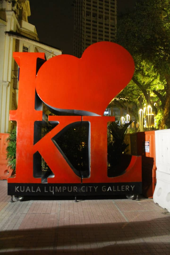 The world-famous I Love KL sign