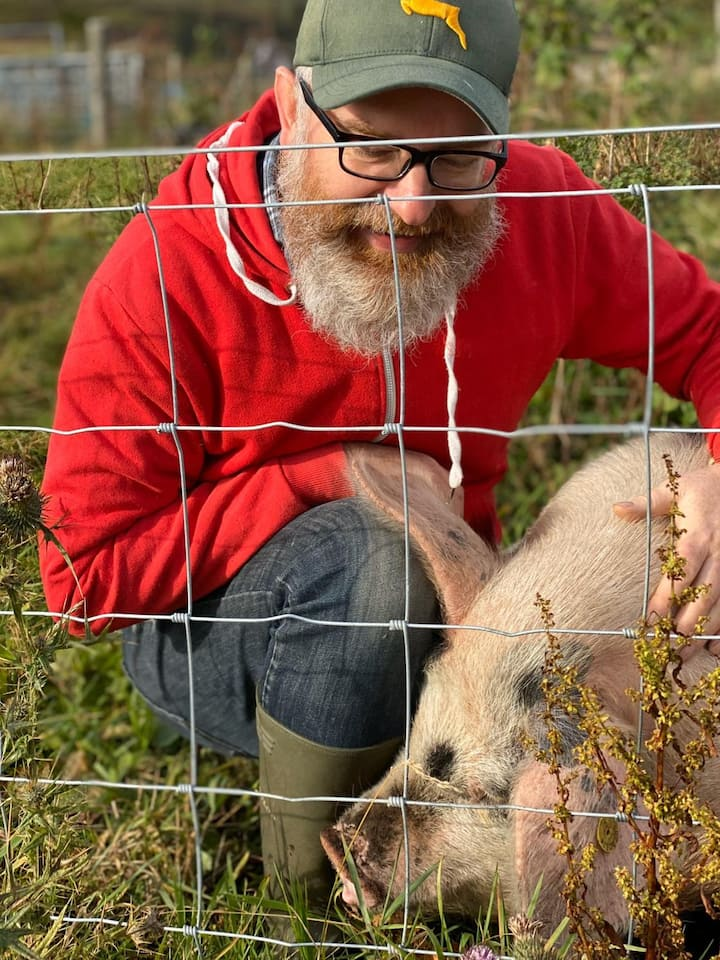 Get up close with our friendly pigs.