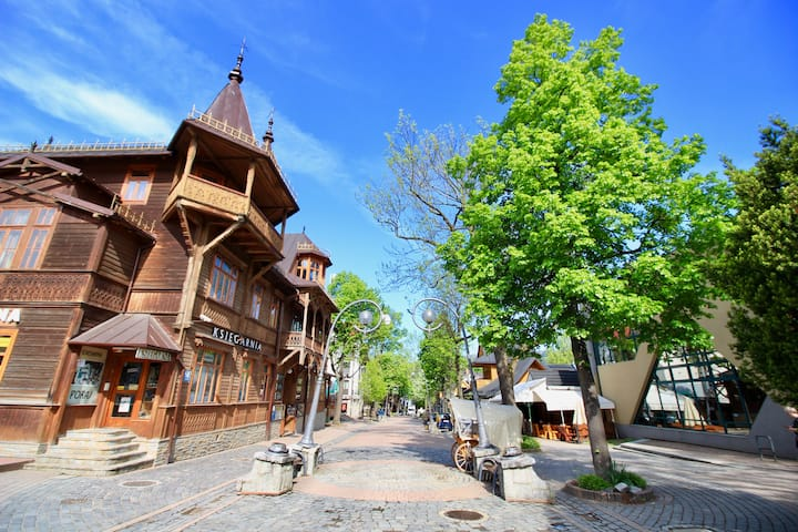 The main walking street in Zakopane