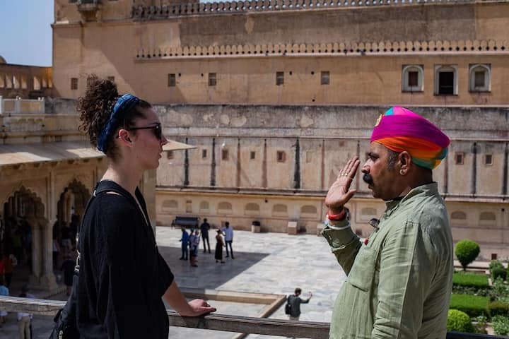 In Action at Amber Fort