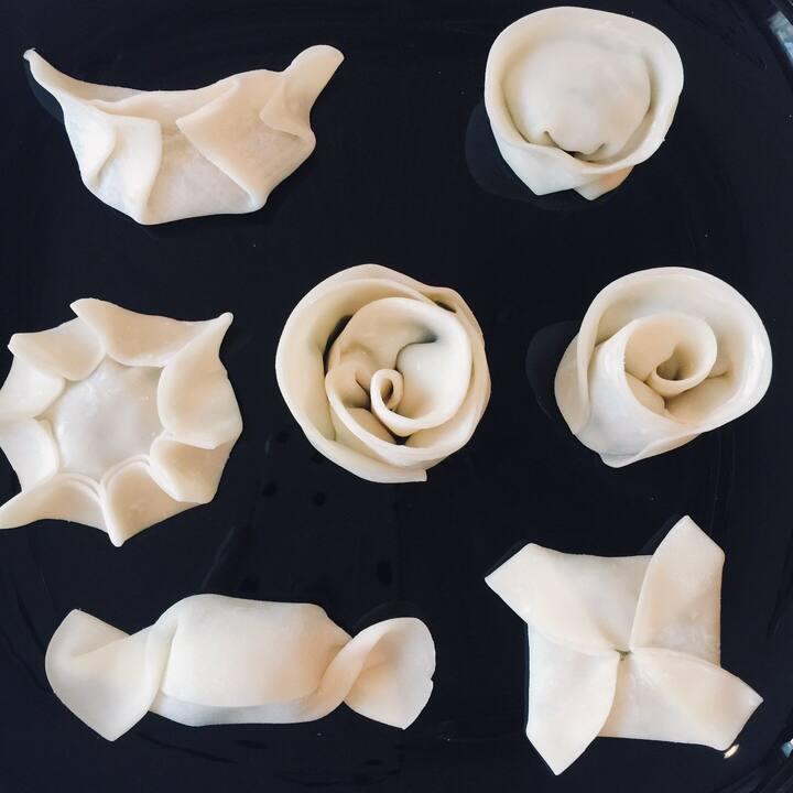Variety of wrapping Gyoza