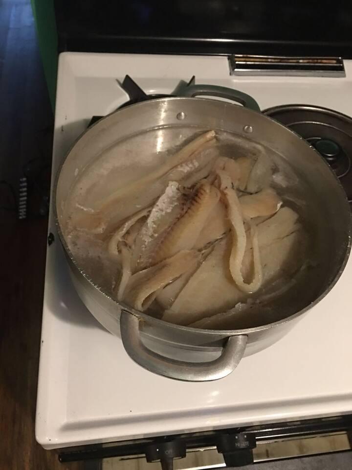 Salt fish prep