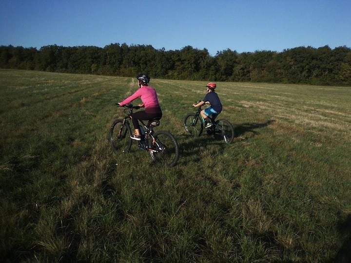 En champs herbeux